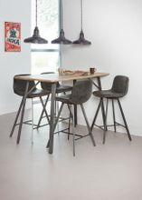 Bartisch JAN 140 x 70 cm Tischplatte 3D-Eiche Antik-Effekt