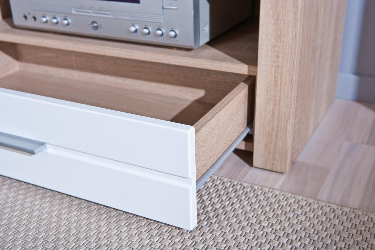 tv board lowboard absoluto 12 sonoma eiche und wei. Black Bedroom Furniture Sets. Home Design Ideas