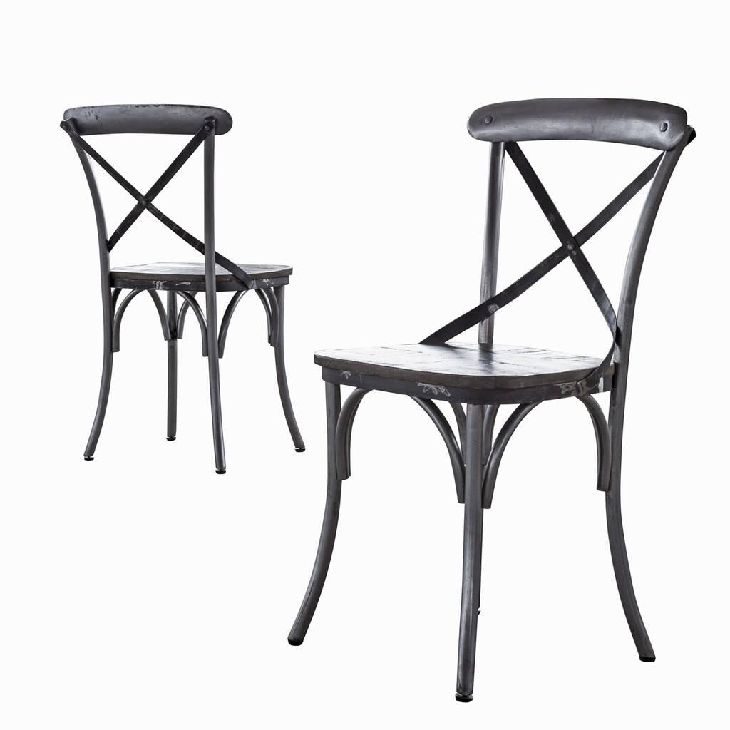 4er set stuhl rift stahlrahmen sitzfl che mango. Black Bedroom Furniture Sets. Home Design Ideas