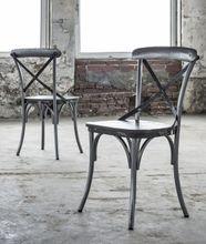 4er-Set Stuhl RIFT Stahlrahmen Sitzfläche Mango