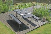 Tischset Gartengarnitur VENTANA Kunststoff Rattanoptik 3-teilig Ansicht-3