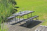 Tischset Gartengarnitur VENTANA Kunststoff Rattanoptik 3-teilig Ansicht-2