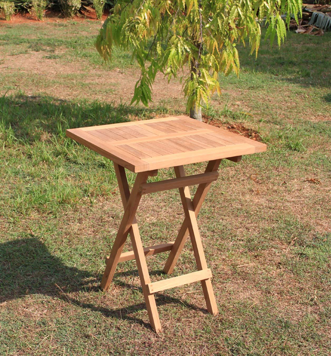 Klapptisch Gartentisch 60 X 60 Cm In Premium Teak