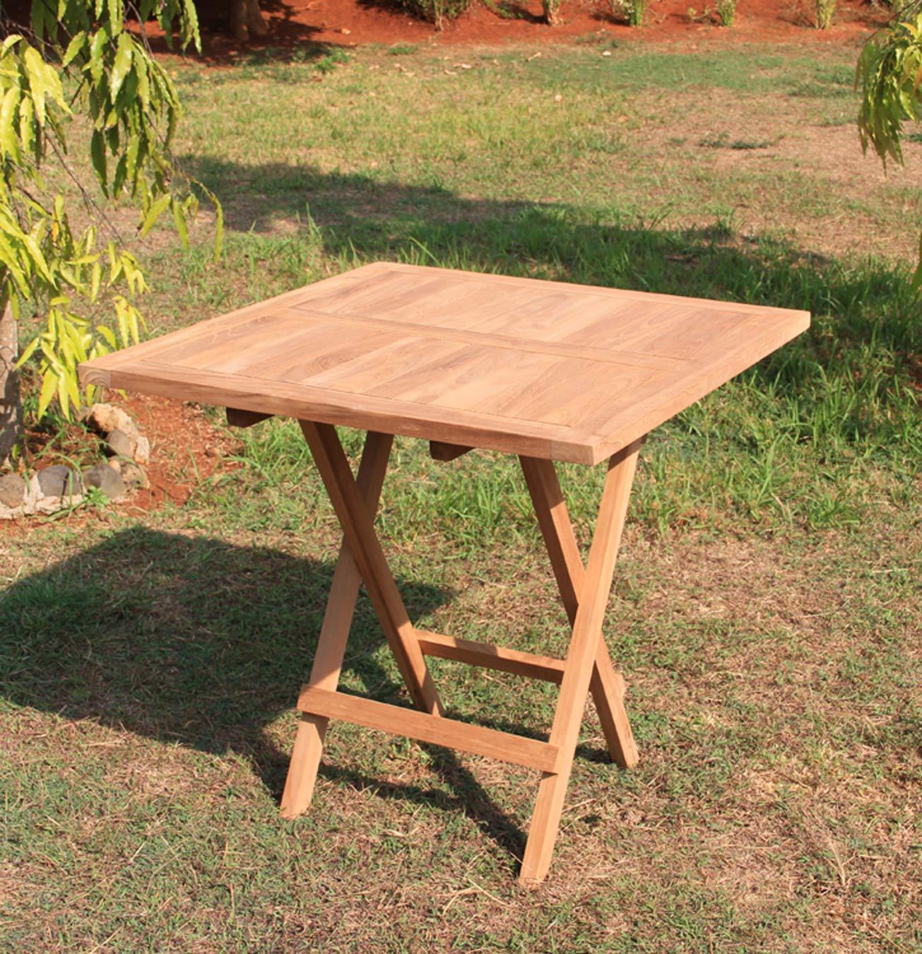 Klapptisch Gartentisch.Klapptisch Gartentisch 80 X 80 Cm In Premium Teak