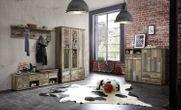 Garderobenschrank BONANZA 3-türig mit Spiegel - Driftwood Nachbildung Ansicht-4