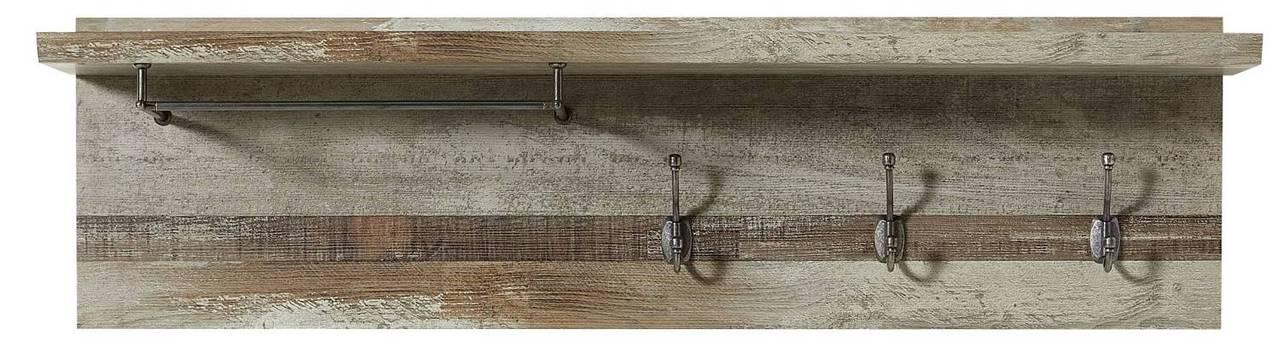 Wandgarderobe Garderobenpaneel BONANZA Driftwood Nachbildung