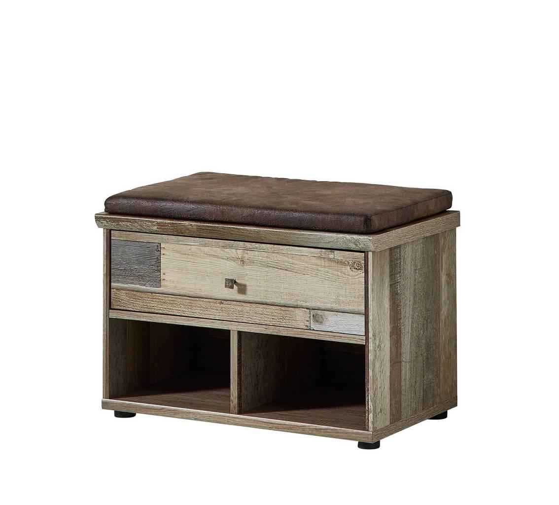 dielenbank flurbank bonanza driftwood nachbildung inkl. Black Bedroom Furniture Sets. Home Design Ideas