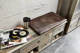 Dielenbank Flurbank BONANZA 130 cm - Driftwood - inkl. Kissen Ansicht-4