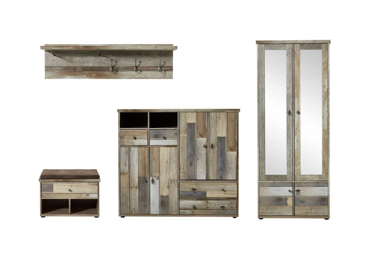 Garderobenset BONANZA DD83  Driftwood Nachbildung 4-teilig