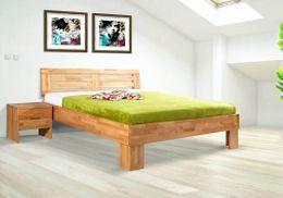Massivholzbett Basic 503 Komforthöhe, Buche geölt verschiedene Größen