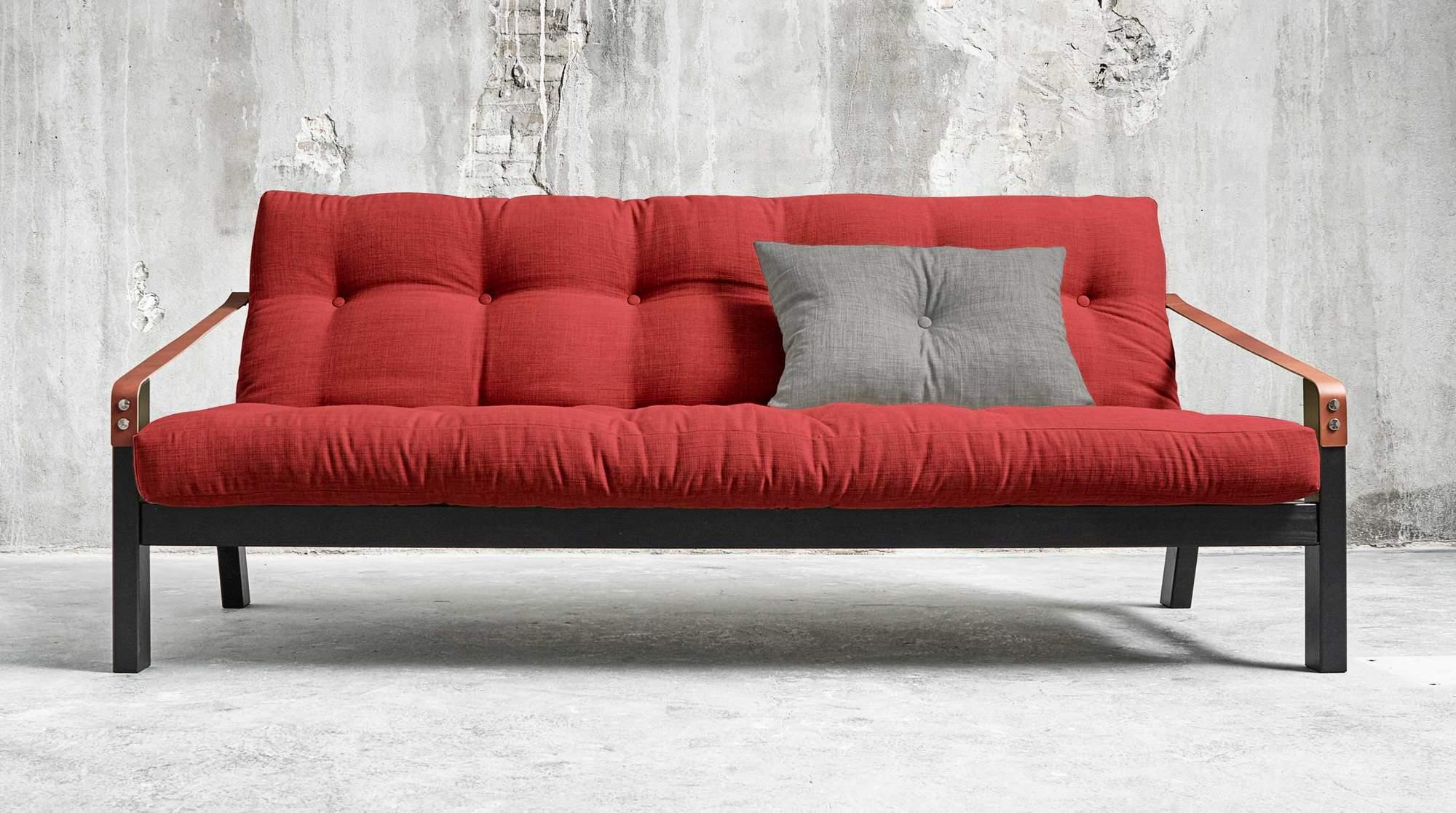 schlafsofa poetry kiefer schwarz sofa mit klappbarer r ckenlehne. Black Bedroom Furniture Sets. Home Design Ideas