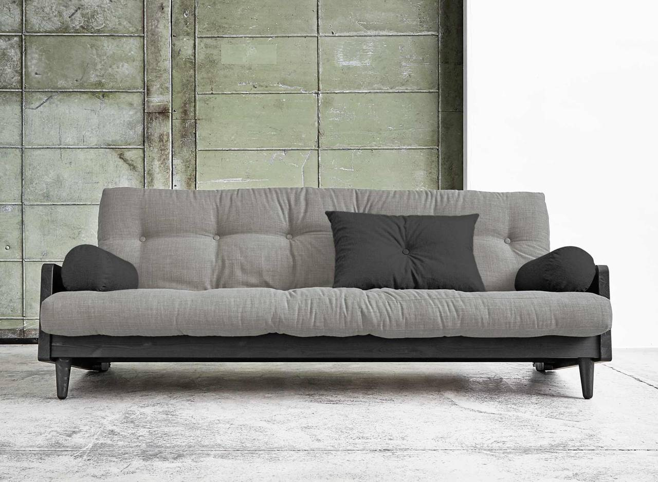 sofa bettsofa indie gestell kiefer schwarz mit klappbarer r ckenlehne. Black Bedroom Furniture Sets. Home Design Ideas