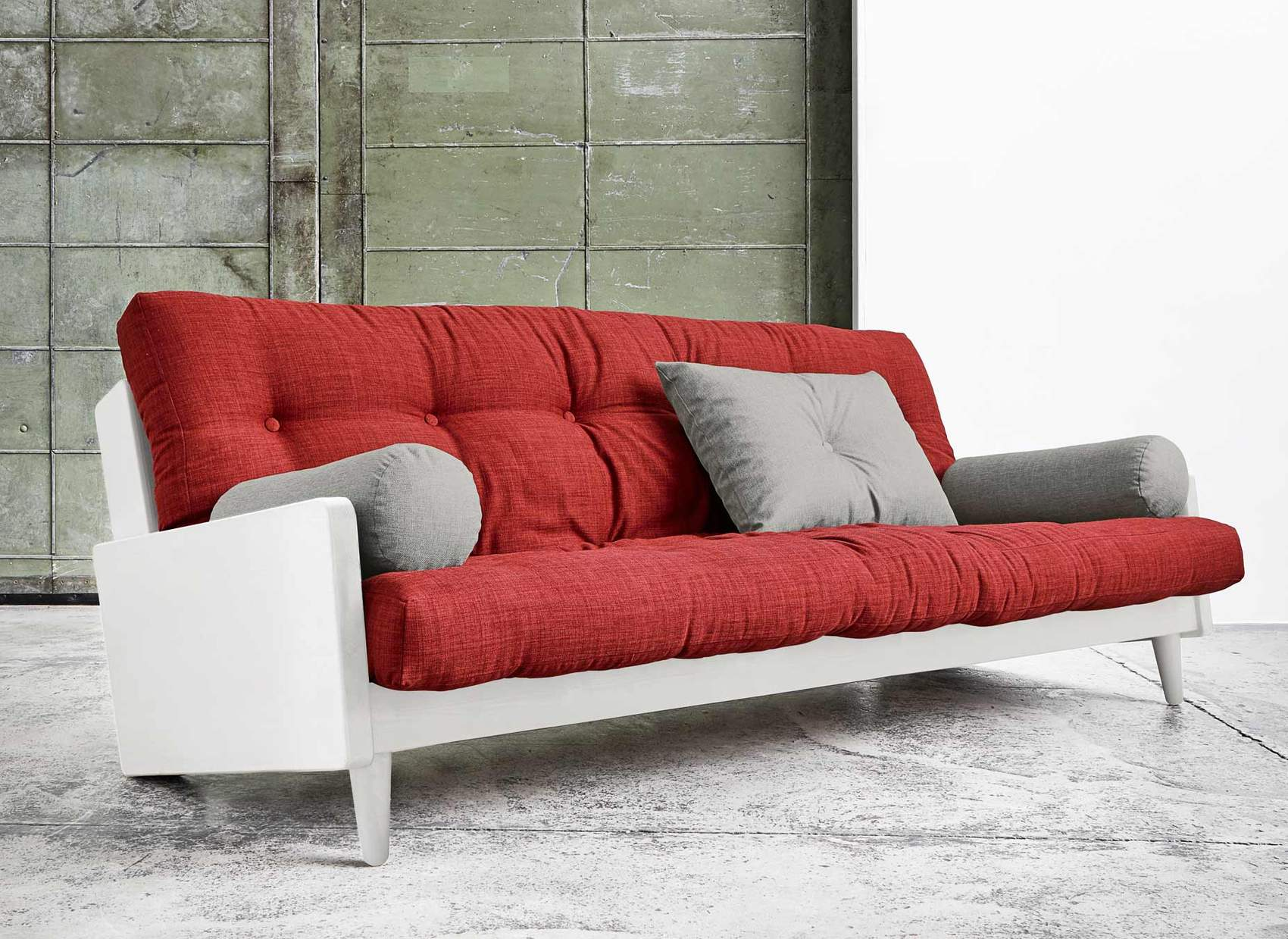 bettsofa indie design sofa kiefer wei mit klappbarer r ckenlehne. Black Bedroom Furniture Sets. Home Design Ideas