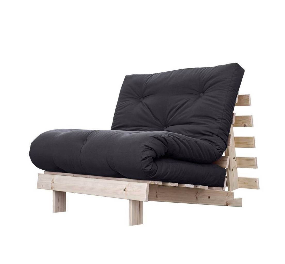 schlafsofa roots 90 cm sofa kiefer massiv unbehandelt von karup. Black Bedroom Furniture Sets. Home Design Ideas