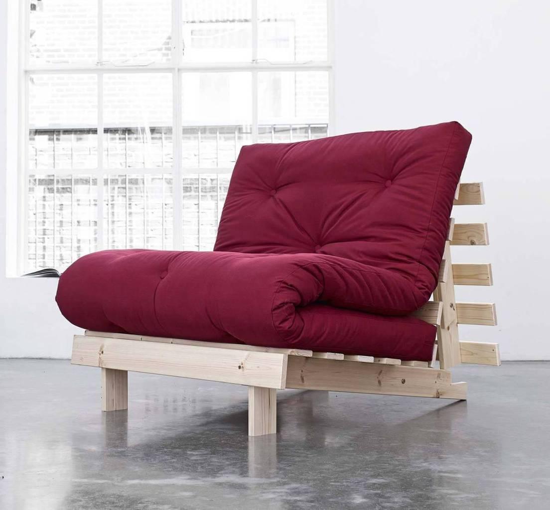 Schlafsofa ROOTS 90 cm Sofa Kiefer massiv unbehandelt, von Karup