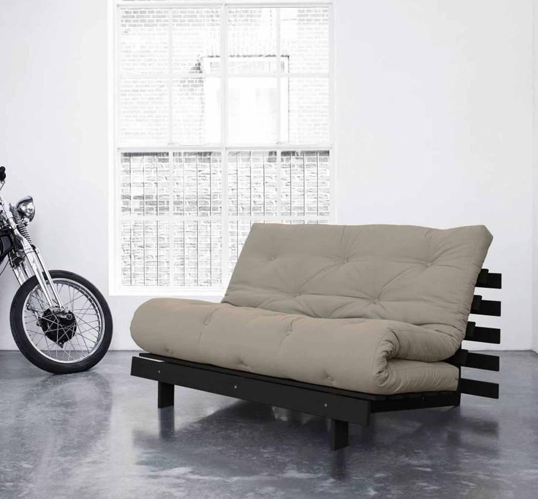 schlafsofa roots 140 cm sofa kiefer massiv wenge gebeizt von karup. Black Bedroom Furniture Sets. Home Design Ideas