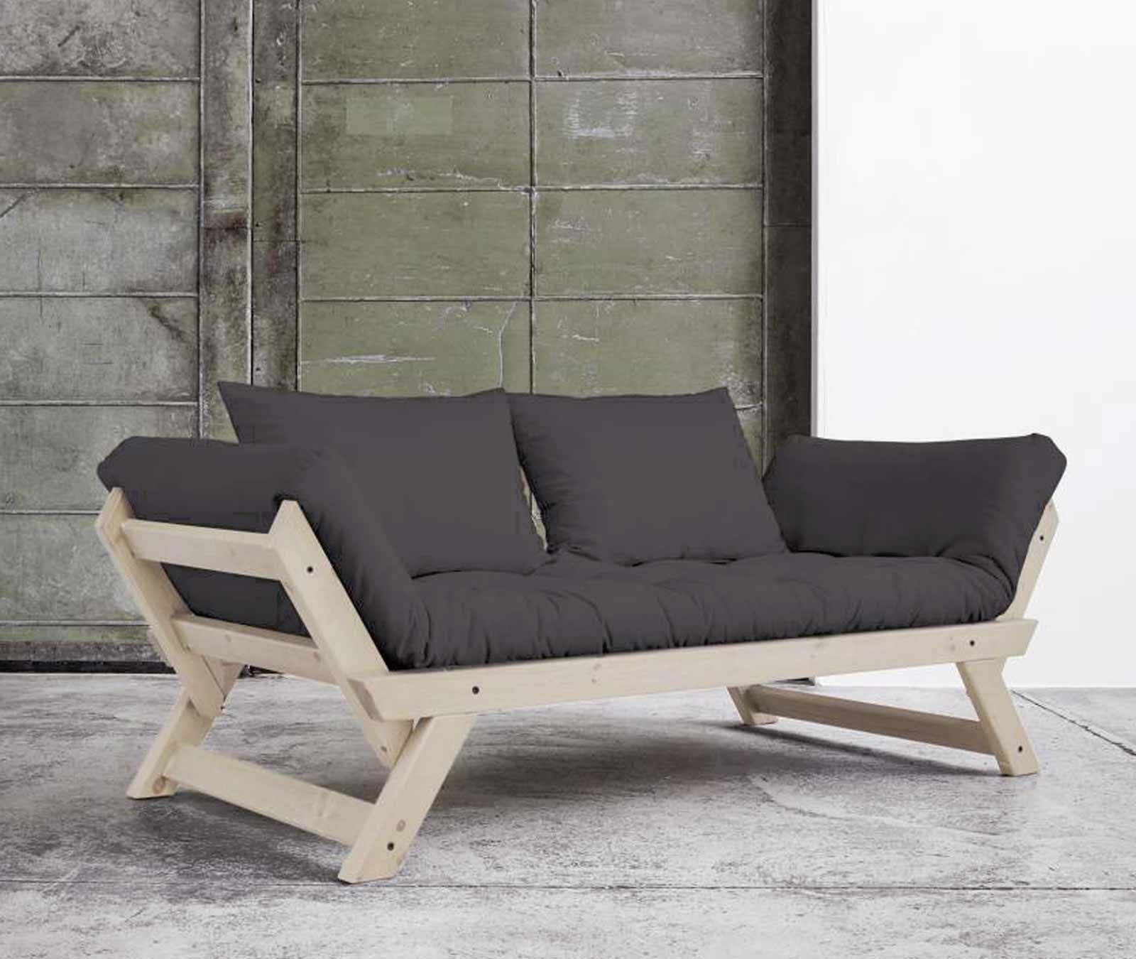 schlafsofa bebop sofa kiefer natur lackiert abklappbar von karup. Black Bedroom Furniture Sets. Home Design Ideas