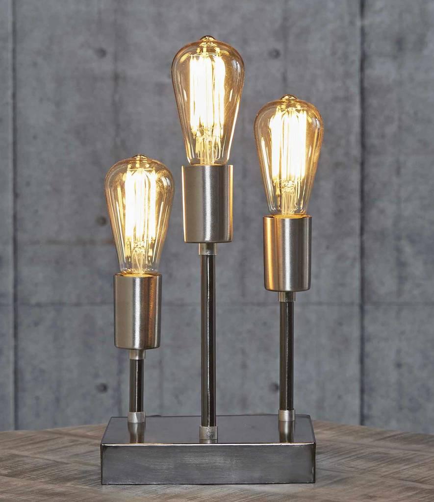 Tischleuchte ELLES 3-flammige Leuchte in Black Nickel