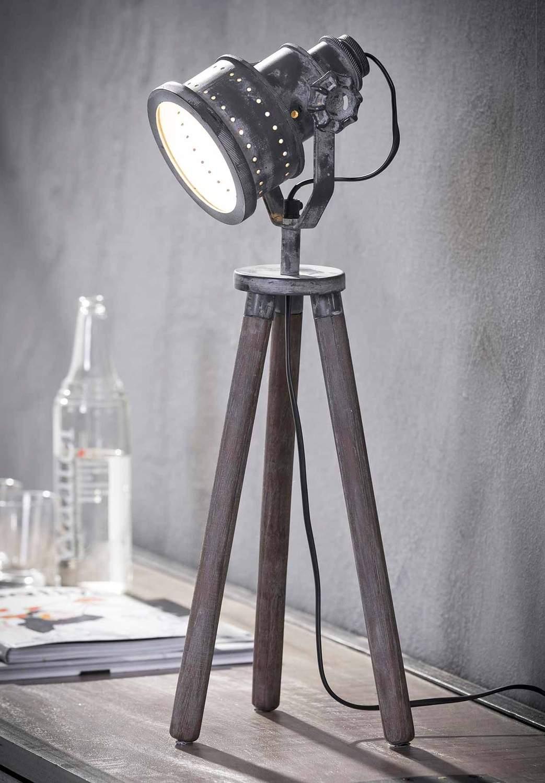 tischleuchte floris tripod tischlampe industrial style. Black Bedroom Furniture Sets. Home Design Ideas