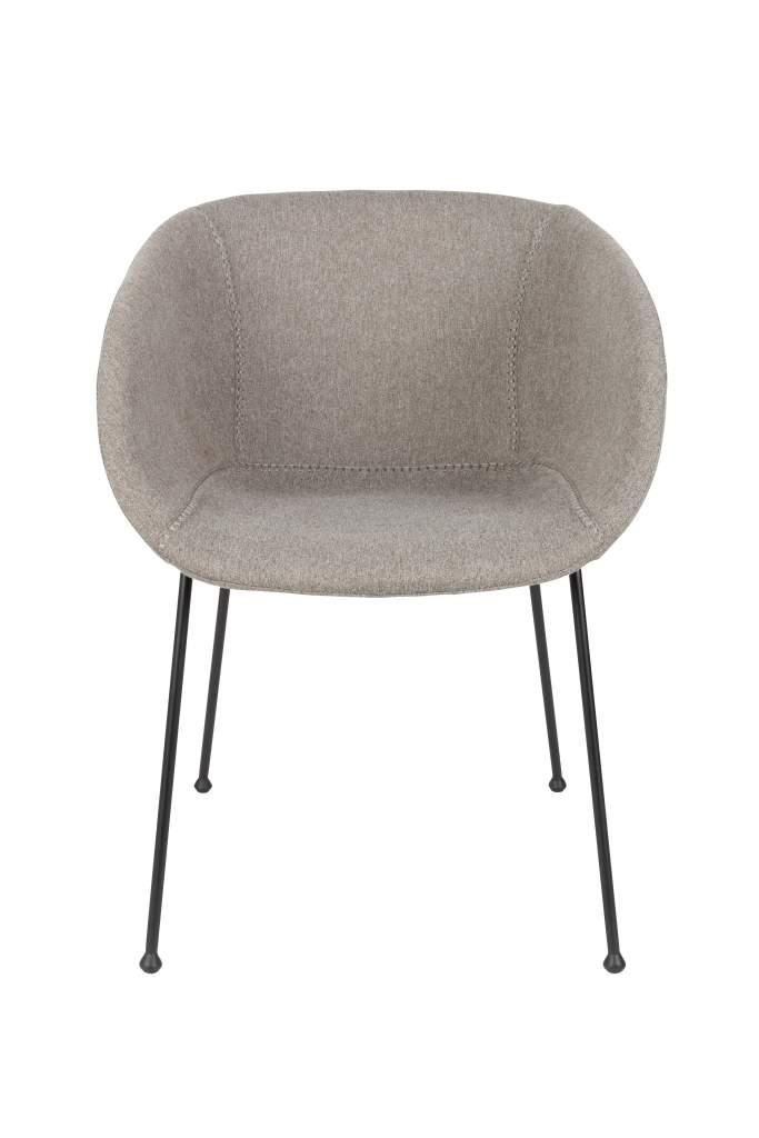 esszimmerstuhl feston filzoptik grau von zuiver. Black Bedroom Furniture Sets. Home Design Ideas