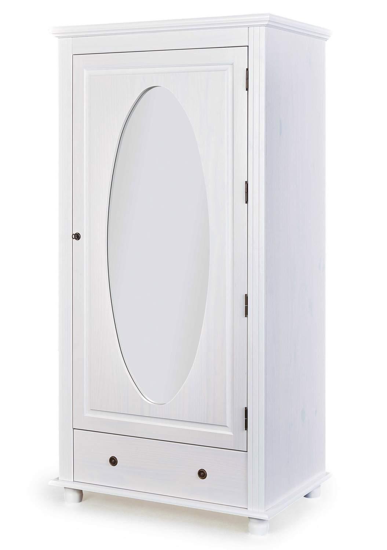 kleiderschrank padova dielenschrank 1 t r kiefer wei. Black Bedroom Furniture Sets. Home Design Ideas