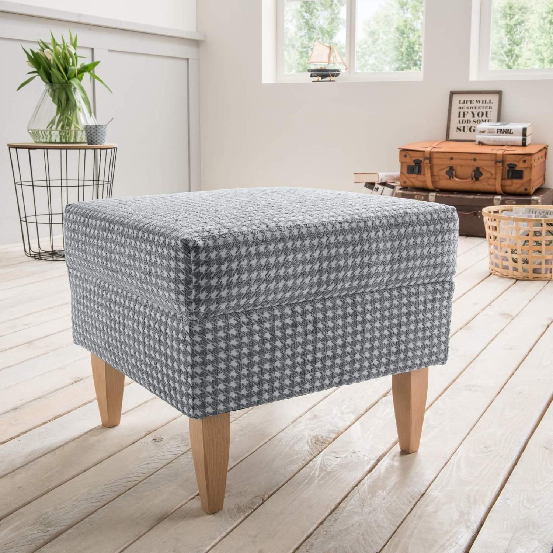 hocker f r ohrensessel aversa stoff talento grau. Black Bedroom Furniture Sets. Home Design Ideas