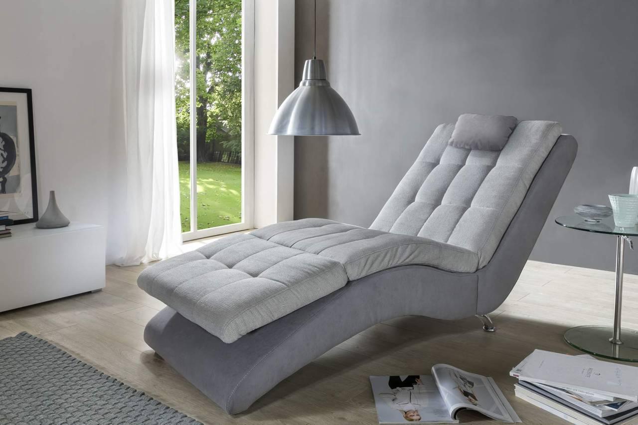 liege relaxliege muro stoff grau fu teil verstellbar. Black Bedroom Furniture Sets. Home Design Ideas
