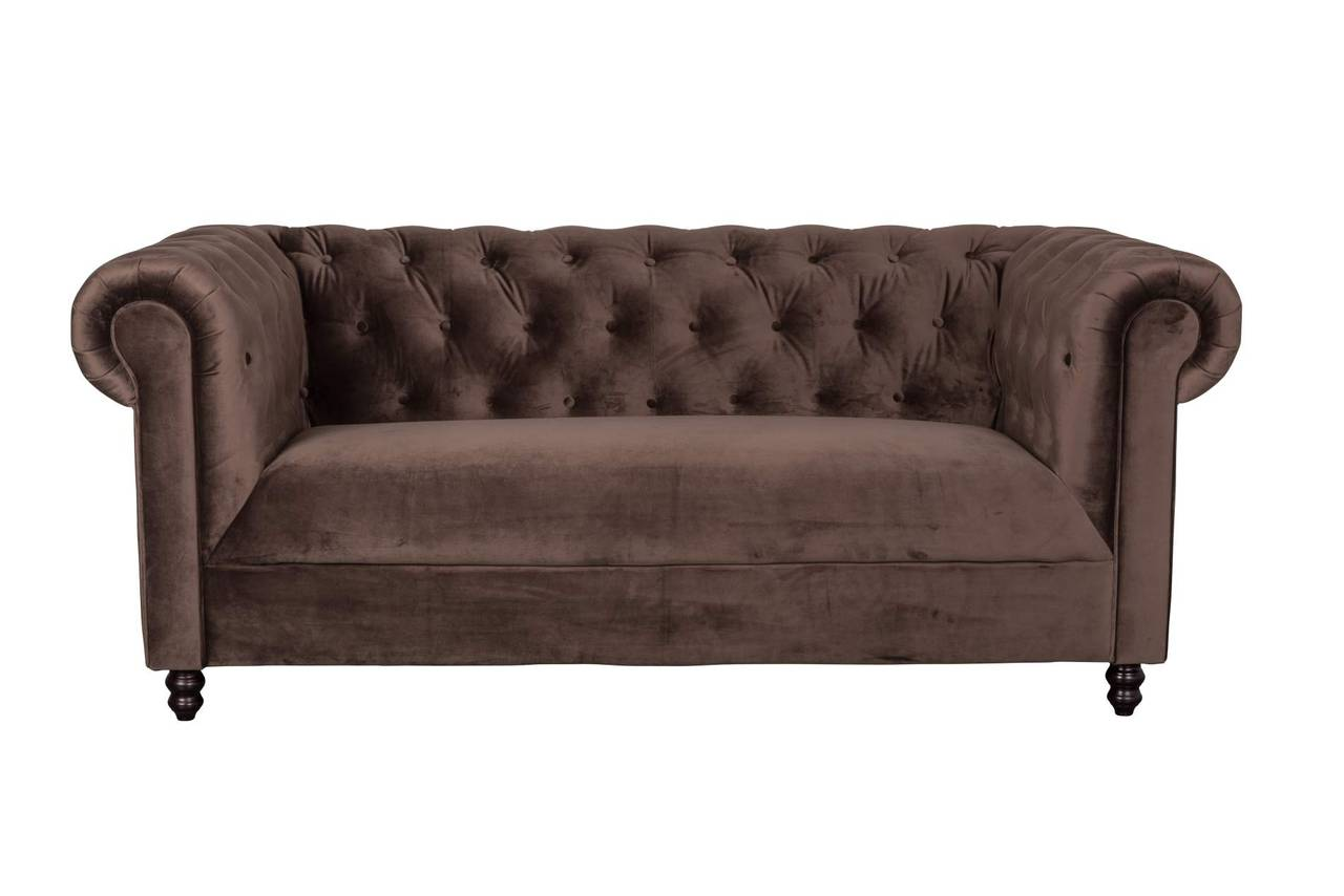 chesterfield sofa chester samt dunkelbraun von dutchbone. Black Bedroom Furniture Sets. Home Design Ideas