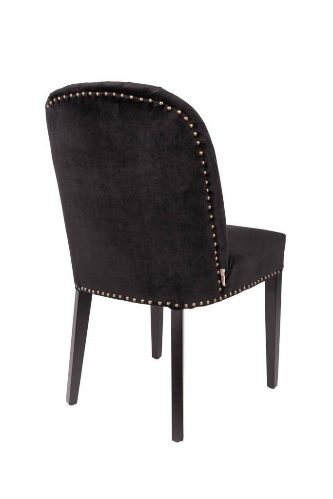 Esszimmerstuhl cassidy samt schwarz von dutchbone for Esszimmerstuhl schwarz