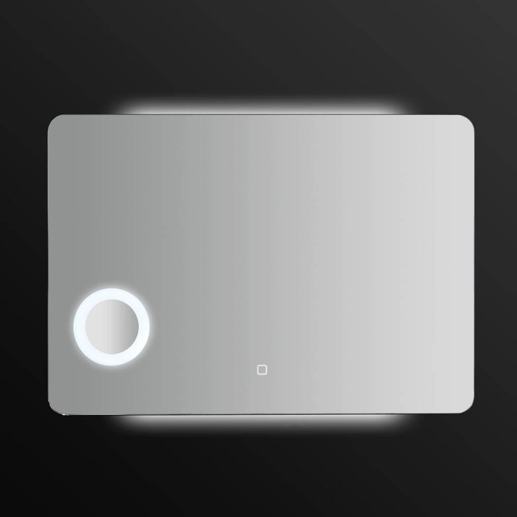 LED Wandspiegel B991542 100 x 70 cm Badspiegel mit Lupe
