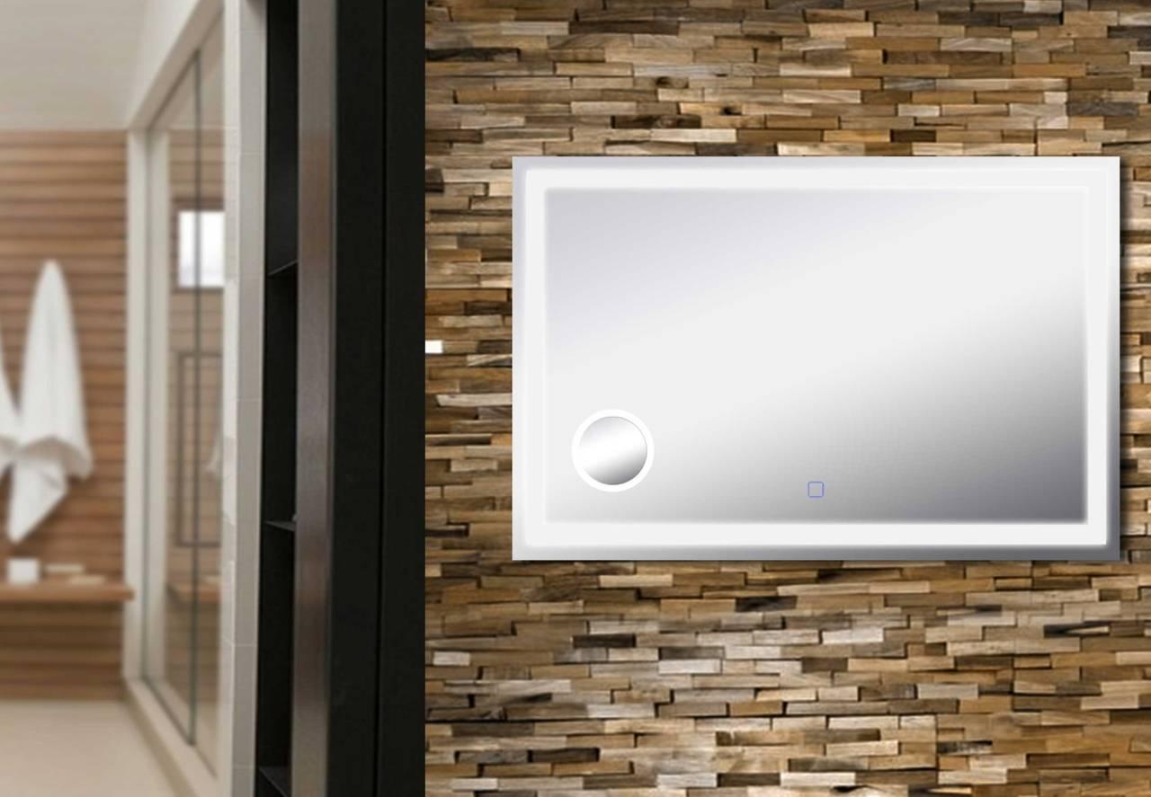 LED Badspiegel B991545 120 x 80 cm mit Lupe