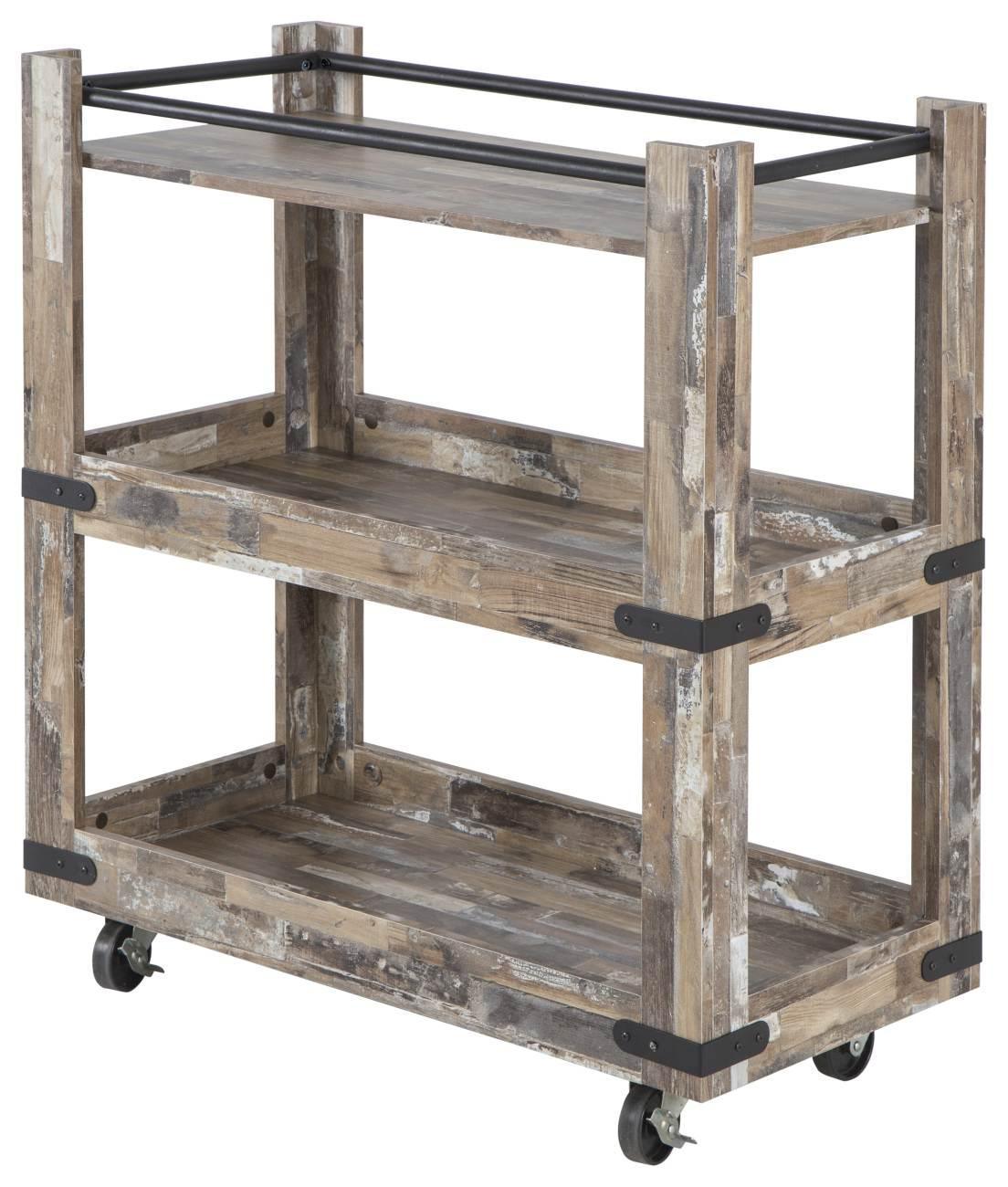 servierwagen factory 110 x 64 cm driftwood nachbildung. Black Bedroom Furniture Sets. Home Design Ideas