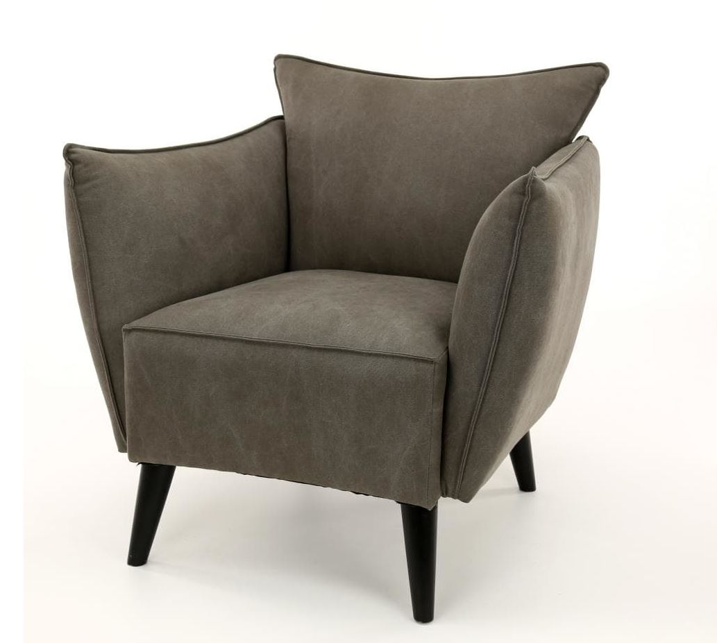 Design sessel tapse loungesessel mit jeans stoffbezug for Design sessel