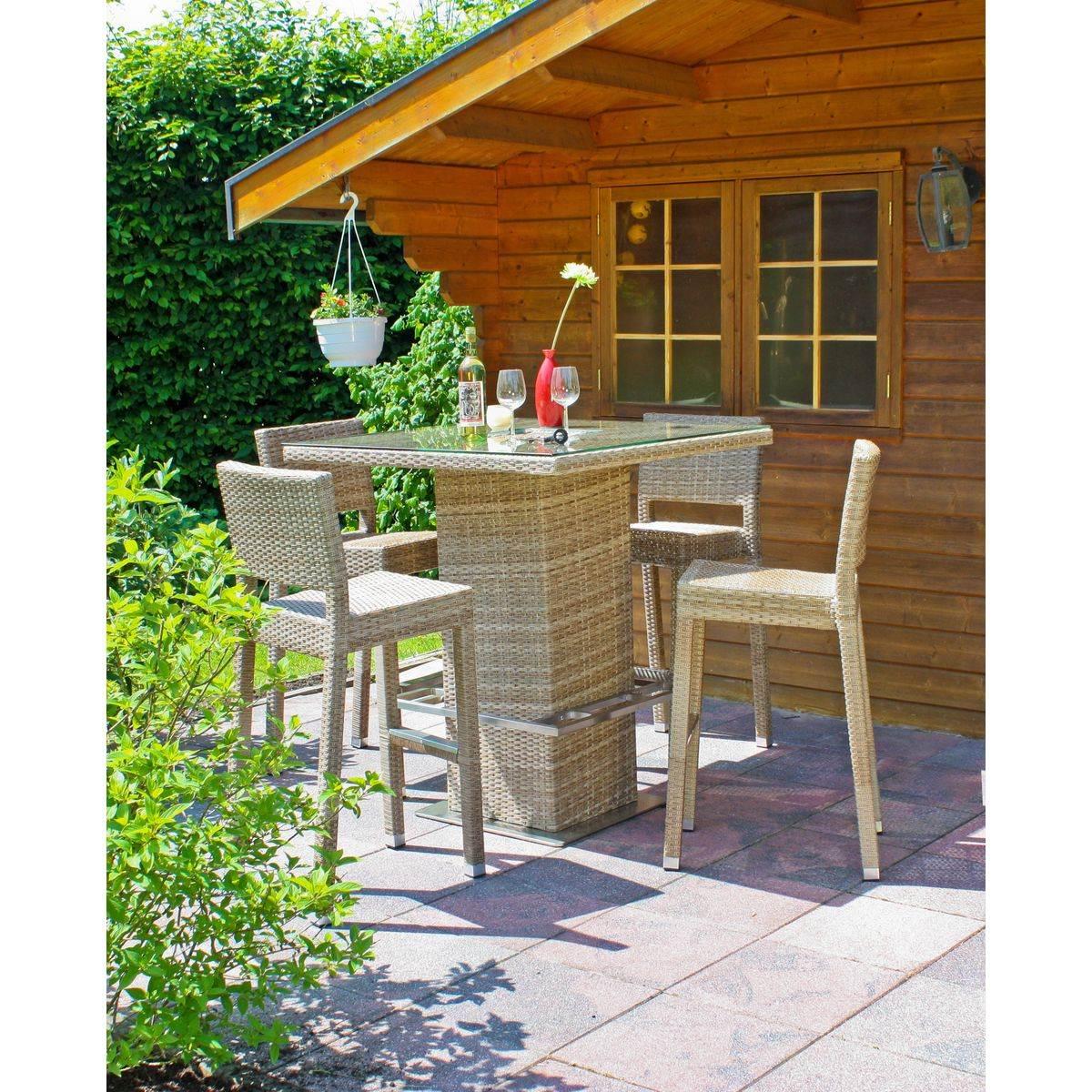 Bartisch Set Bar Set Alvito 5 Teilig Für Den Garten