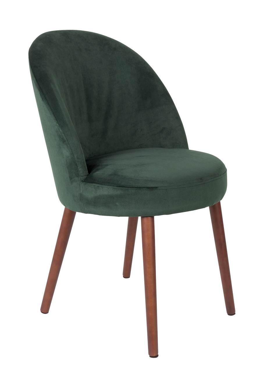 esszimmerstuhl barbara velvet samt gr n von dutchbone. Black Bedroom Furniture Sets. Home Design Ideas