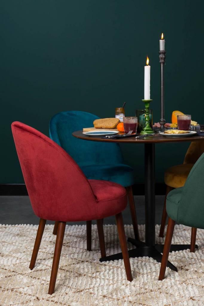 esszimmerstuhl barbara velvet samt petrol von dutchbone. Black Bedroom Furniture Sets. Home Design Ideas