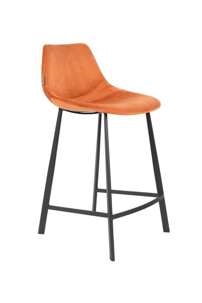 Tresenhocker FRANKY VELVET Samt Orange von DutchBone