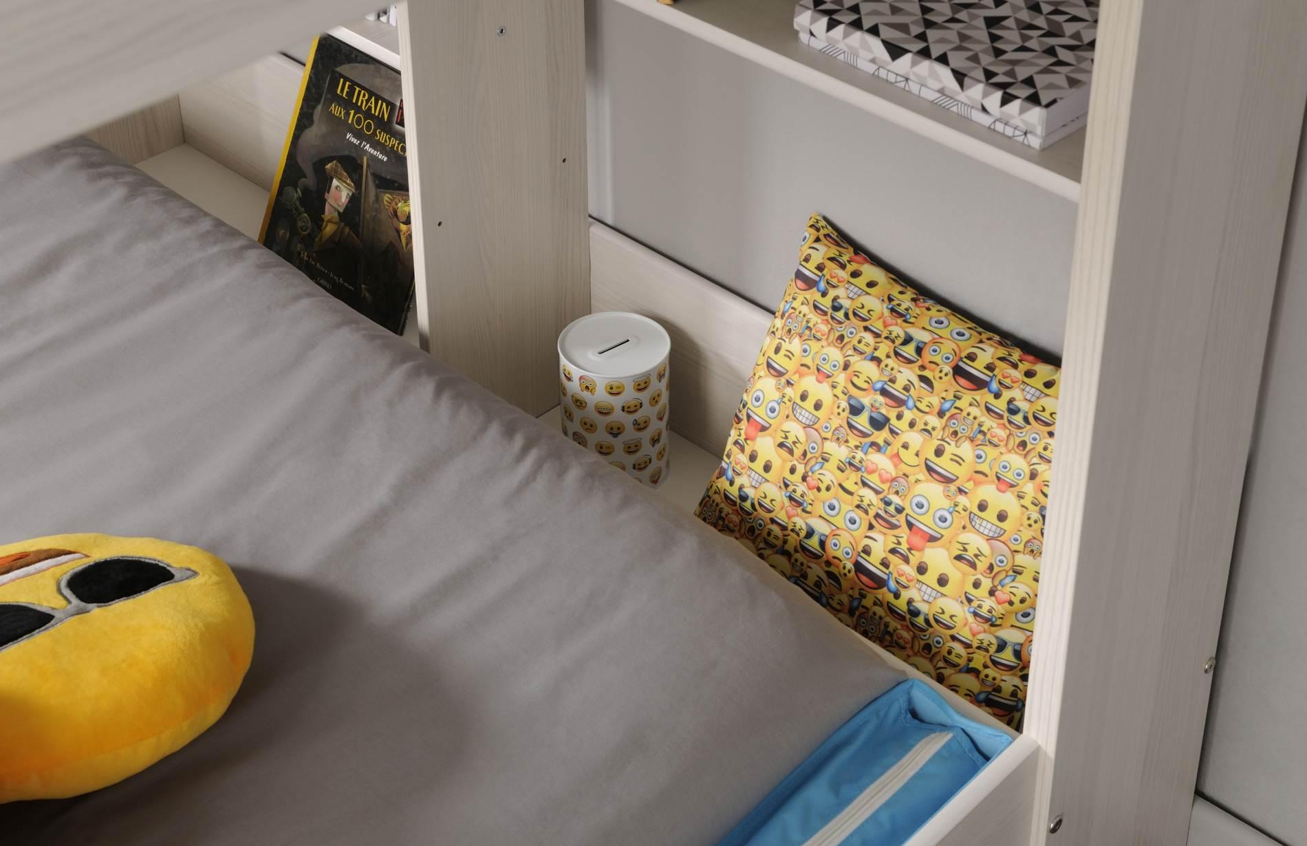 Etagenbett Für 2 Jungs : Etagenbett mit leiter und regalen higher jungs von parisot