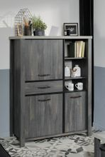 Highboard MAXWELL Eiche Grau Platte Betonoptik von Parisot