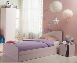 4-tlg. Komplettset CRISTAL 3 Kinderzimmer in rosa und lila