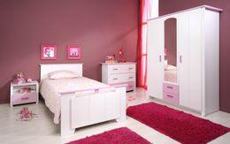 Kinderzimmer BIOTIFUL 12 Komplettset 4-teilig Weiß Rosa