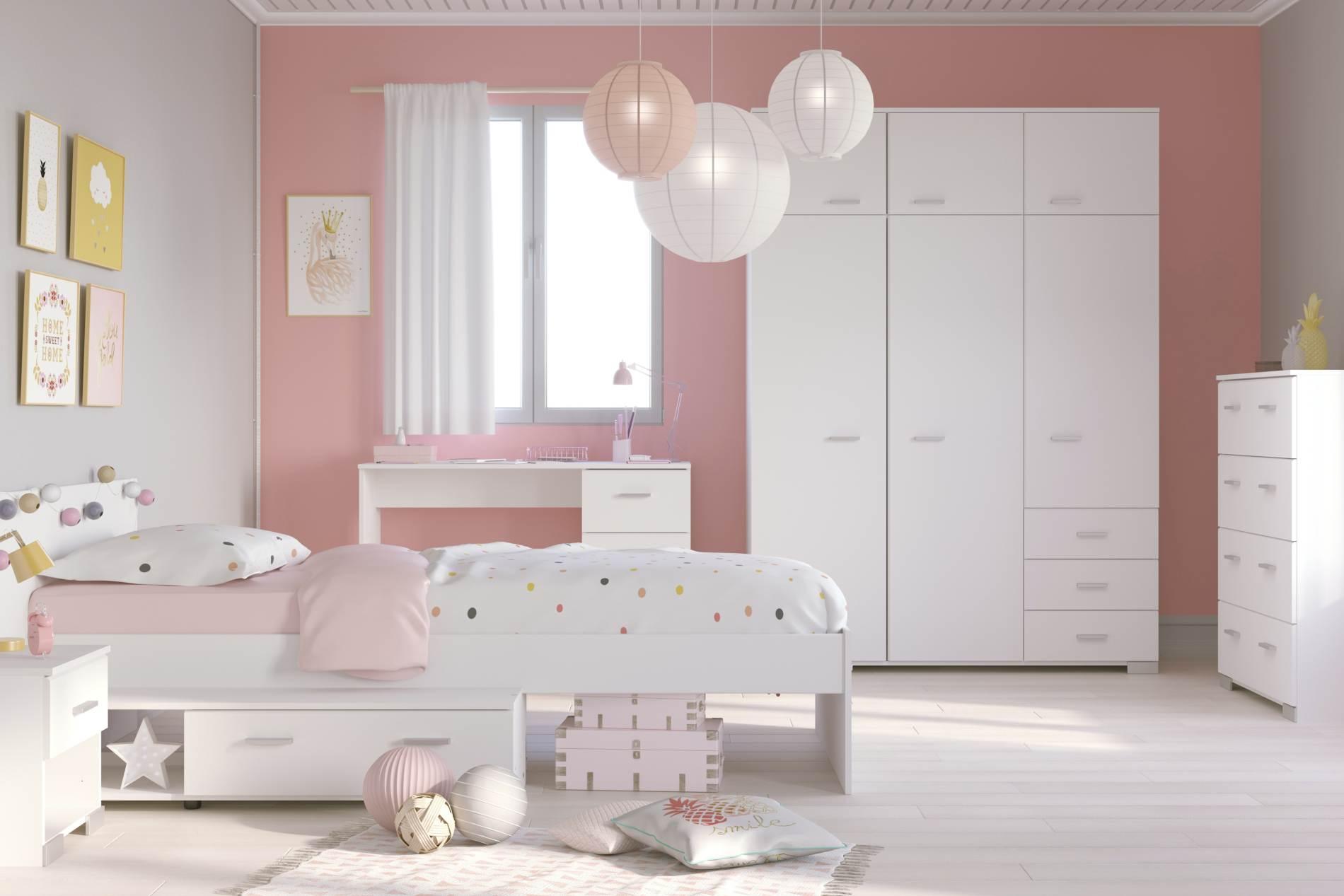 Kinderzimmer Jugendzimmer Galaxy 151a Komplettset 5 Teilig Weiss