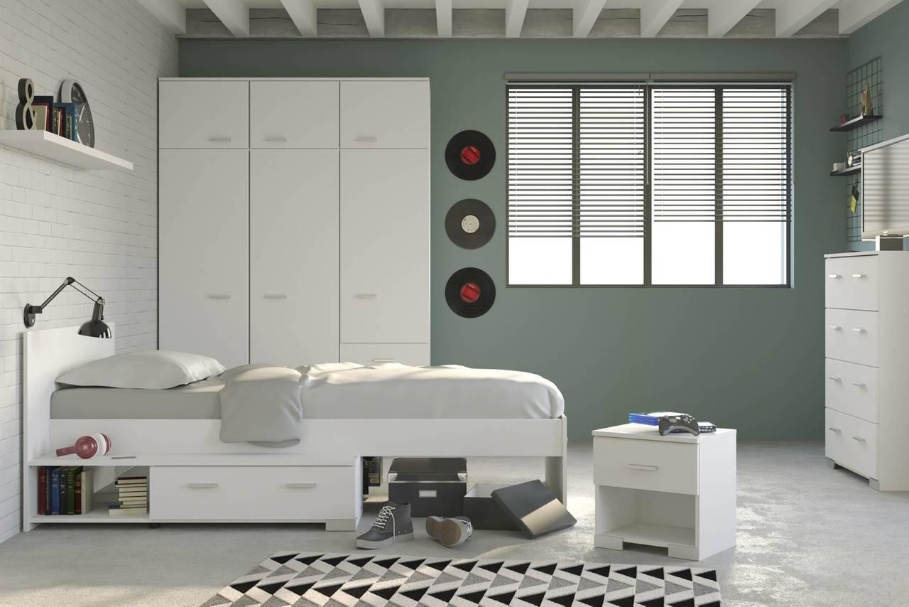 Kinderzimmer Jugendzimmer GALAXY 153B Komplettset 4-teilig weiß