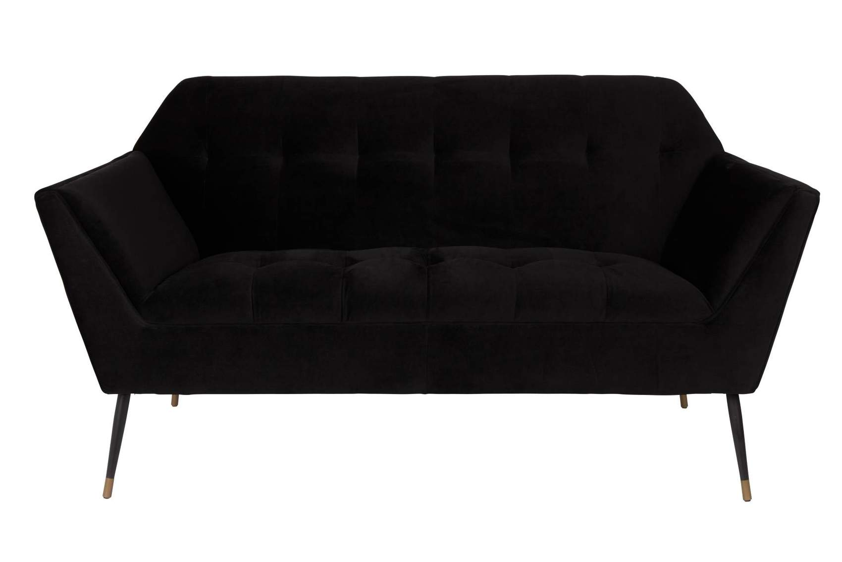 2 sitzer sofa kate black samt von dutchbone. Black Bedroom Furniture Sets. Home Design Ideas