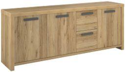 Sideboard LOOD 6 - 3 Türen 2 Schubladen Dekor Eiche Echtholz-Optik