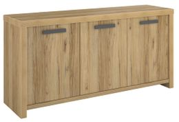 Sideboard LOOD 7 - 3 Türen Eiche Optik Echtholz-Optik