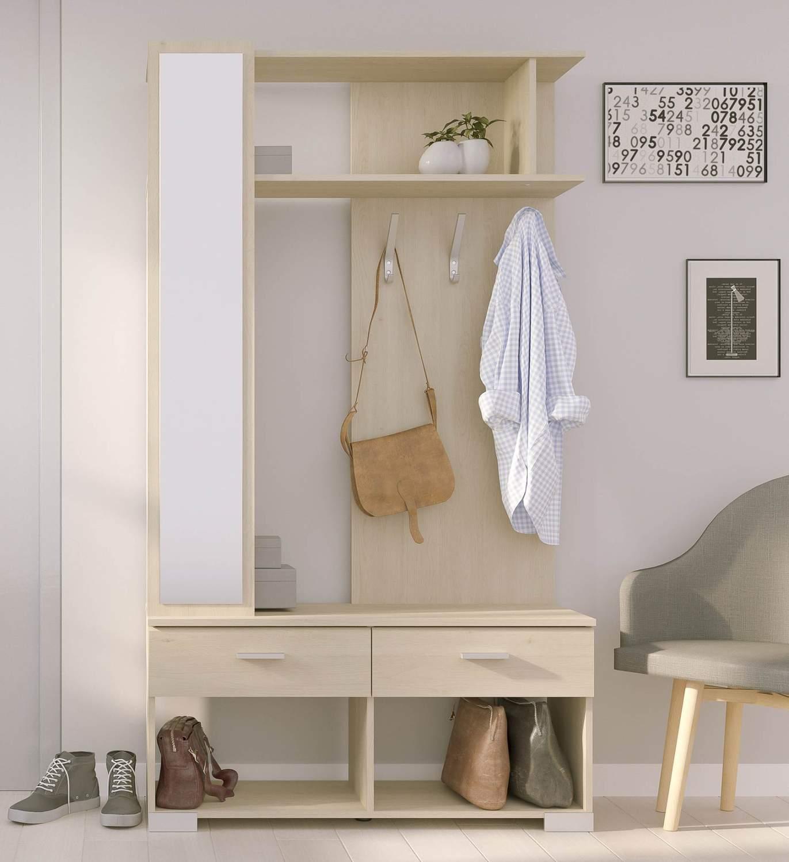 wandgarderobe galaxy 510 dekor eiche kompakt garderobe mit spiegel. Black Bedroom Furniture Sets. Home Design Ideas