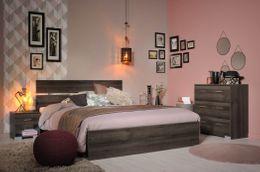 Schlafzimmer Set GALAXY 307 inklusive Bett 160 x 200 Walnuss Dekor