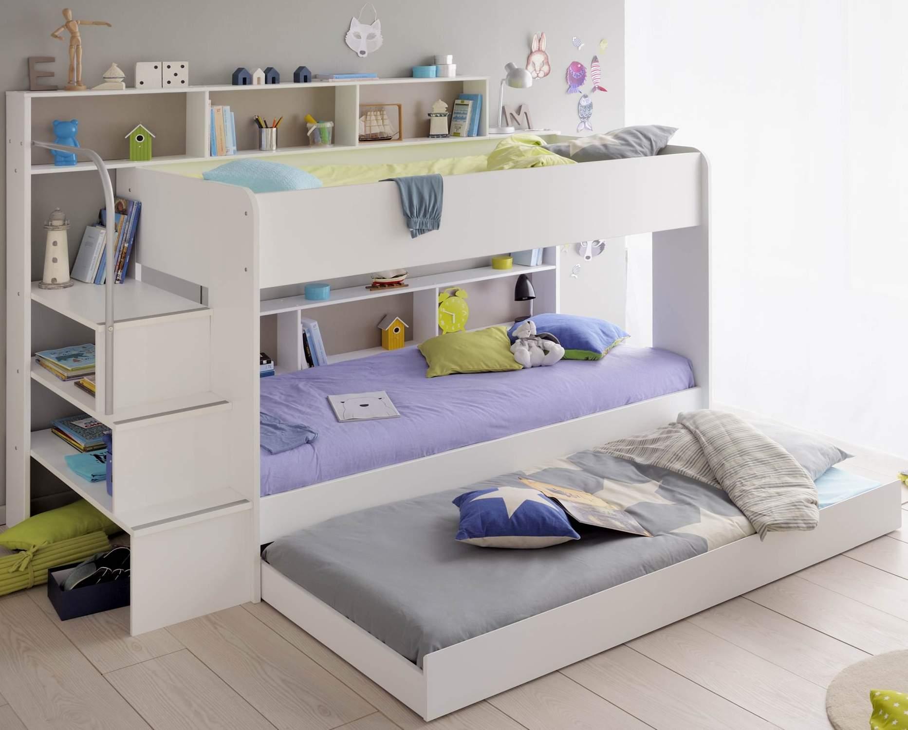 Kinderzimmer set bibop 63 etagenbett mit 2 schreibtischen for Kinderzimmer komplett mit etagenbett