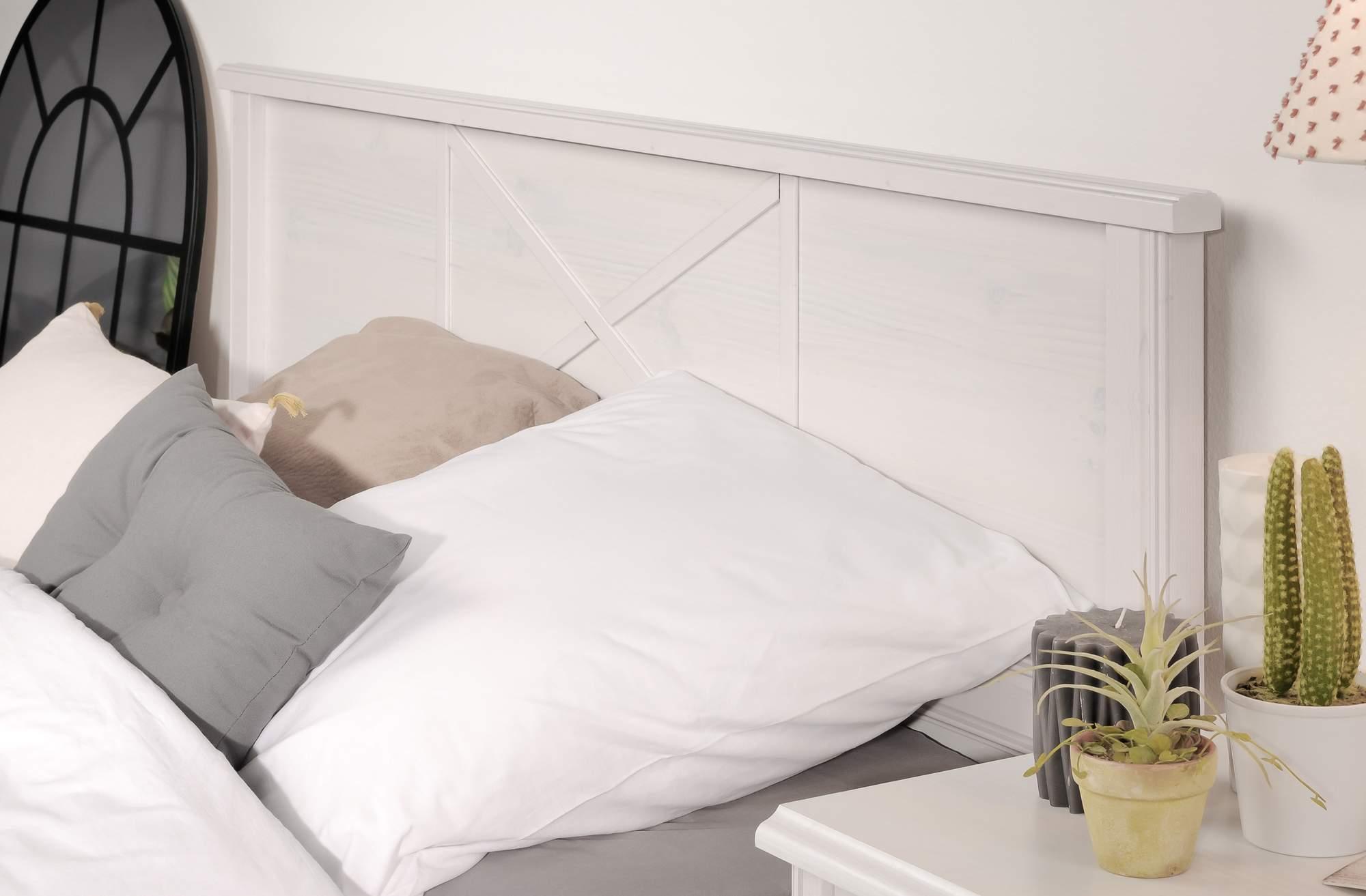 Details zu Schlafzimmer Set MARION 1 im Landhausstil 5-tlg. weiß Bett 140 x  200